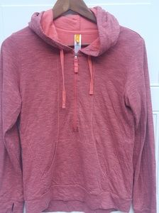 🎉Lucy|1/2 Zip Pullover|Heathered Pink|Size S